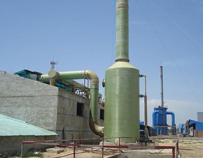 玻璃钢吸收塔脱硫方法